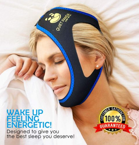 Anti Snoring Chin Strap - Most Effective Snoring Solution and Anti Snoring Devices - Stop Snoring Sleep Aid for Men and Women [Upgraded Version]