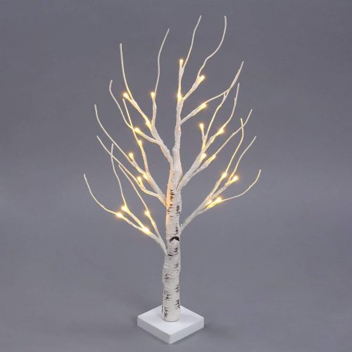 Excelvan Desk Lighted Tree Light, Decorative Flexible Creative Colorful Light, Perfect for Home Festival Party Wedding, Indoor & Outdoor Decoration (White Birch)