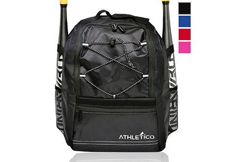 Athletico Youth Baseball Bag - Bat Backpack for Baseball, T-Ball & Softball Equipment & Gear
