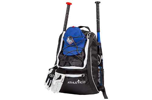 Athletico Baseball Bat Bag - Backpack Baseball, T-Ball & Softball Equipment