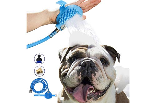 Maci-Fresh Pet Bathing Tool | Deluxe Shower Sprayer and Scrubber In-One for Pets, Dog Showers