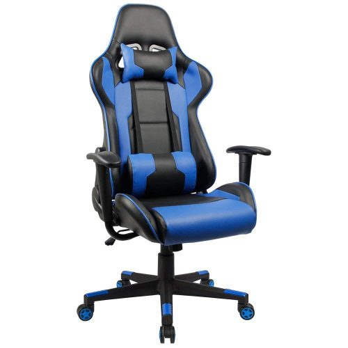 Homall Gaming Chair Racing Style High-Back PU Leather Office Chair Computer Desk Chair Executive and Ergonomic Style Swivel Chair with Headrest and Lumbar Support