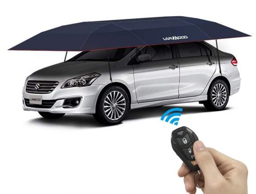 LANMODO Pro Four-season Automatic Car Tent Cover Carport Folded, Car Umbrella Tent Car Sunshade with Anti-UV