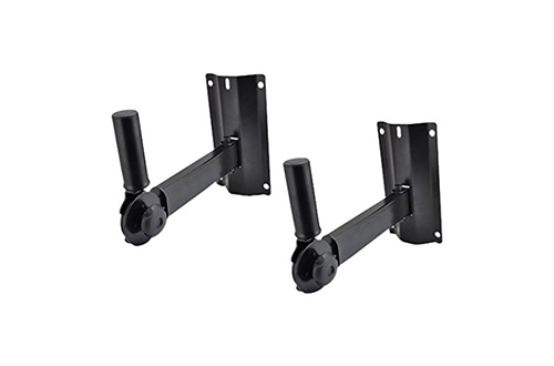 Pyle PSTNDW15 Dual Universal Adjustable Speaker Wall Mounts Bracket Stands with Angle, Tilt, Rotation Adjustment