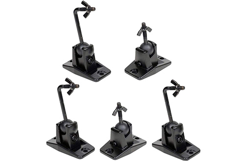 VideoSecu 5 Black Universal Satellite and Audio Speaker Wall Mounts Bracket for Wall or Ceiling