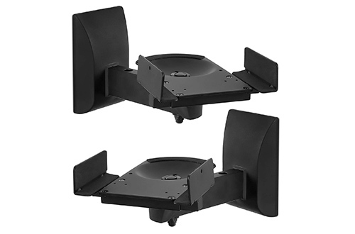 Mount-It! Speaker Wall Mounts, Pair of Universal Side Clamping Bookshelf Speaker Wall Mounts Brackets, Large or Small Speakers