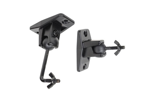 VideoSecu One Pair Black Univaersal Satellite Speaker Wall Mounts Bracket for Wall and Ceiling