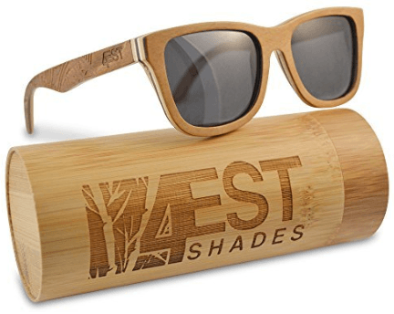 Wood Sunglasses made from Maple -100% polarized lenses in a wayfarer that floats