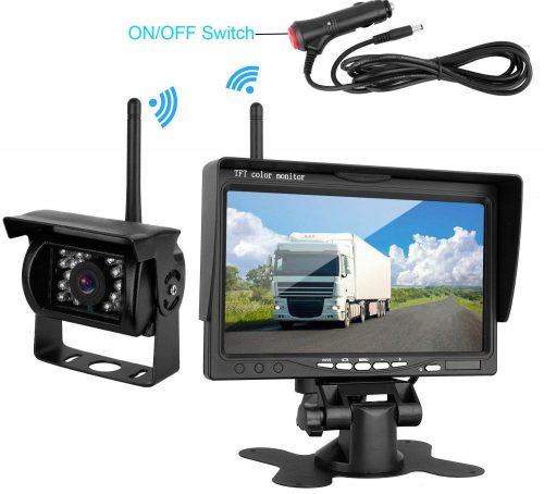 iStrong Backup Camera Wireless Built in and Monitor Kit 12V-24V Rear View