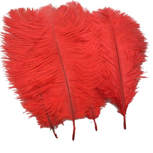 Sowder 20pcs Natural 10-12inch(25-30cm) Ostrich Feathers Plume Wedding Centerpieces Home Decoration(red)