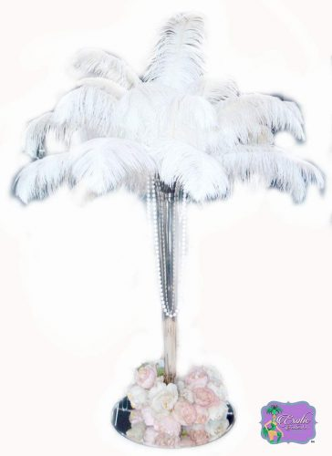 Ostrich Feathers 100 Pcs. White Tail Ostrich Feather Plumes 14 to 18 inches Long. U.S.A. Store. Create Stunning Feather Centerpieces