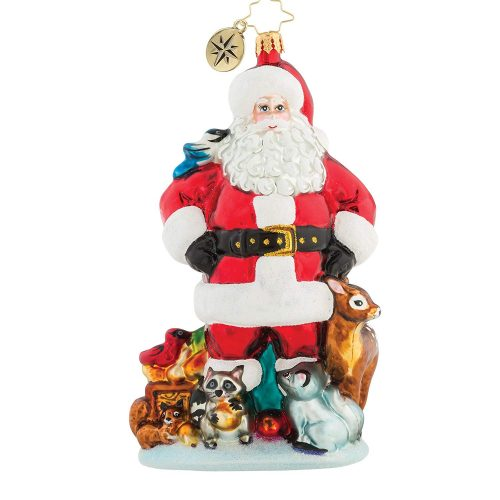 Christopher Radko Santa's Wild Life! Christmas Ornament
