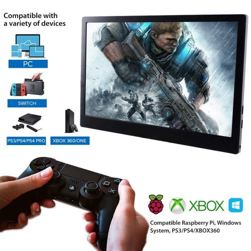 13.3 Inch Gaming Monitor HDMI Monitor HDR IPS Resolution 1920×1080 Display LCD Screen Speaker Xbox Ones PS4 PC Laptop 60 Hz