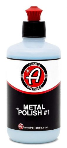 Adam's Metal Polish #1 8oz - Polish Aluminum, Chrome, Stainless & Uncoated Metals - Restores Neglected Metals - Bringing Back Your Dull Looking Aluminum, Chrome, or Stainless Trim