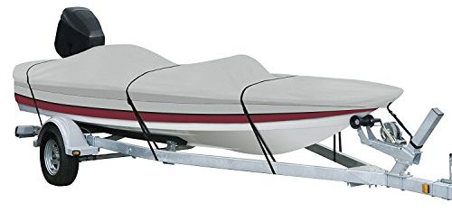 AmazonBasics Boat Cover for V-Hull Runabouts and Bass Boats