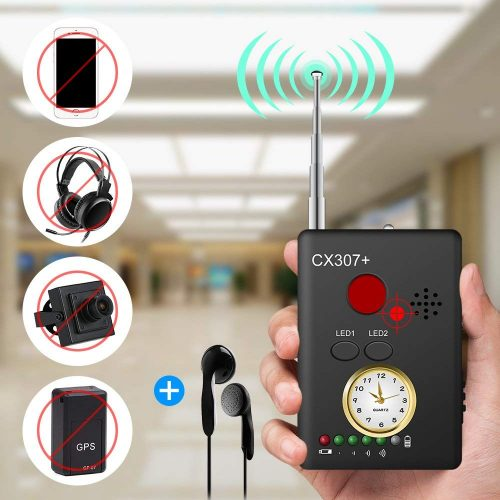 Anti-spy Camera Bug RF Signal Detector [Enhanced Version], Dooreemee Wireless Hidden Camera GPS Tracker Higher Sensitivity Multi-functional GSM Device Finder