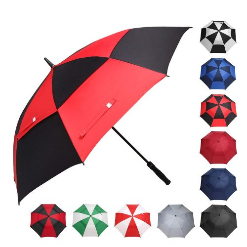 BAGAIL Golf Umbrella 58-62-68 Inch Large Oversize Double Canopy Vented Windproof Waterproof Automatic Open Stick Umbrellas for Men and Women