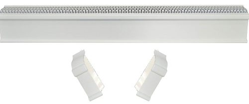 Baseboard Heater Cover COMPLETE SET - INCLUDES Right and Left End Caps - Hot Water, Hydronic Heater Slant Fin Baseboard Cover Enclosure Replacement Kit for Home