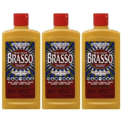Brasso Metal Polish, 8 oz Bottle for Brass, Copper, Stainless Steel, Chrome, Aluminum, Pewter & Bronze, 8 oz (Pack of 3) - TOP 10 BEST CHROME POLISHES IN 2019 REVIEWS