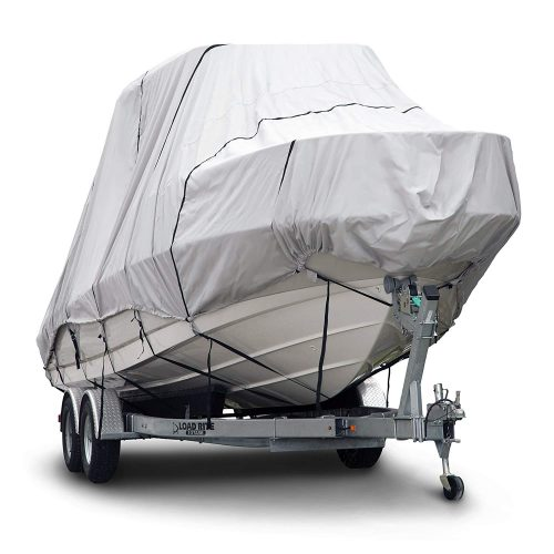 Budge 600 Denier Boat Cover fits Hard Top-T-Top Boats B-621-X7 (22INCH to 24INCH Long, Gray)