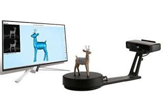 EinScan-SE White Light Desktop 3D Scanner,0.1 mm Accuracy, 8s Scan Speed, 700mm Cubic Max Scan Volume, Fixed-Auto Scan Mode, Lowest Cost Professional Level 3D Scanner