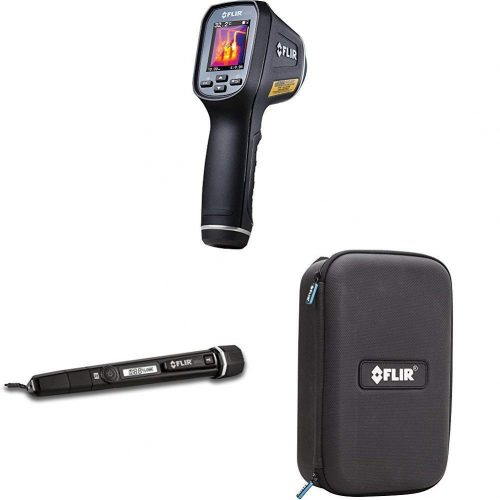 FLIR TG165 Spot Thermal Camera and Moisture Pen with Built in Flashlight and Thermal Imager Protective Case