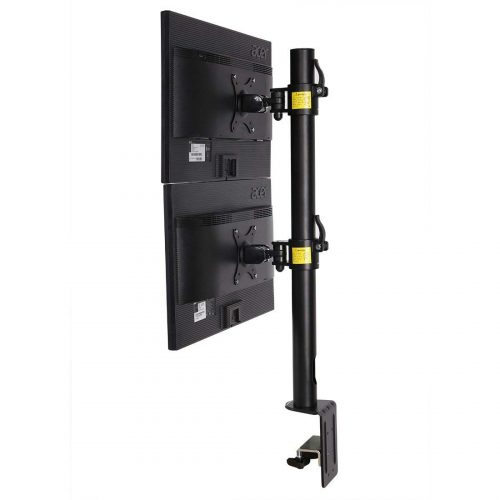 Fleximounts D1DV Full Motion Vertical Dual Desk Mounts Stand for 2 screens up to 27INCH LCD Monitor POS moun