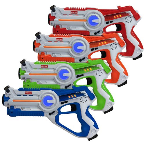 Kidzlane Infrared Laser Tag - Game Mega Pack - Set of 4 Players - Infrared Laser Gun Indoor and Outdoor Group Activity Fun. Infrared 0.9mW