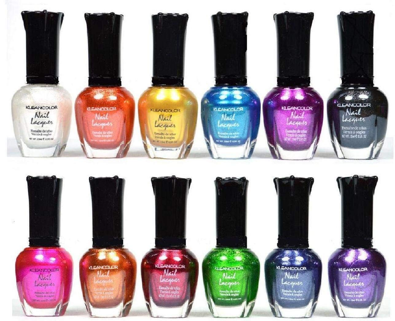Kleancolor Nail Polish - Awesome Metallic Full Size Lacquer Lot of 12-pc Set Body Care - Beauty Care -Bodycare
