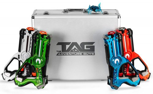 Laser Tag for Kids - Premium Deluxe Lazer Tag Gun Set of 4 with Designer Case & Beetle Bug - Multiplayer Game Play with 4 Unique Gun Settings - 100% Safe