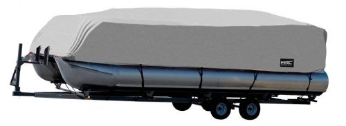 MSC Trailerable Pontoon Boat Cover 300D UV,Mainre Grade, Color Grey,Pacific Blue,Beige Available