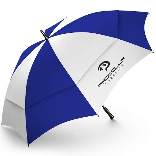 Procella Golf Umbrella Large 62 inch Windproof Waterproof - Automatic Open - Portable - For Men and Women