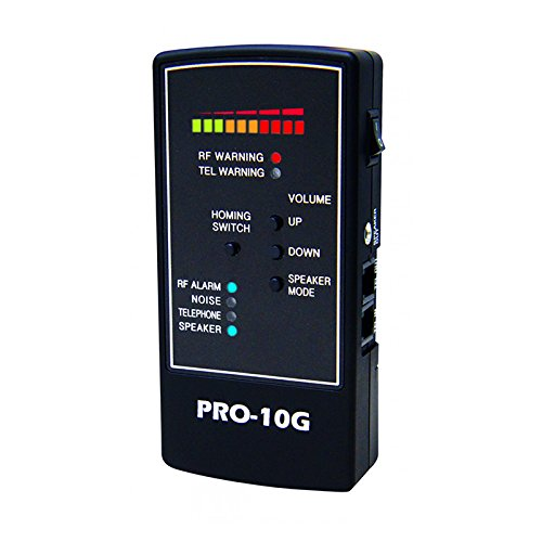 Spy-Hawk Security Products Pro-10G is the # 1 GPS Tracker Finder and Law-Grade Counter Surveillance Bug Sweep - Newest Professional Handheld Detection of All Active GPS Trackers - TOP 10 BEST HIDDEN CAMERA DETECTORS IN 2018 REVIEWS