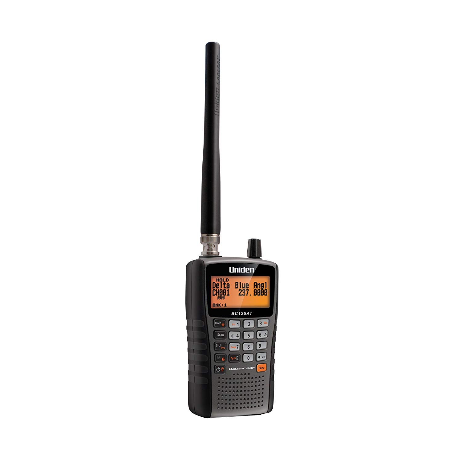 Uniden Bearcat BC125AT Handheld Scanner, 500 Alpha-Tagged channels, Public Safety, Police, Fire, Emergency, Marine, Military Aircraft, and Auto Racing Scanner