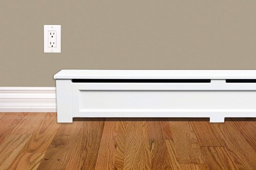 Wood Baseboard Heater Cover SHAKER Straight Kit 3ft Length (Closed Endcaps)