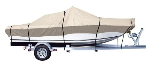 iCOVER Trailerable Boat Cover-Fits V-Hull,TRI-Hull,Pro-Style,Fishing Boat,Runabout,Bass Boat Multiple Sizes&Colors
