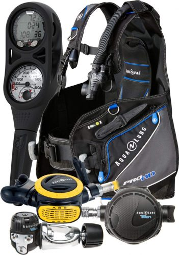 Aqua Lung Pro HD BCD i300C Dive Computer Titan - ABS Regulator Set