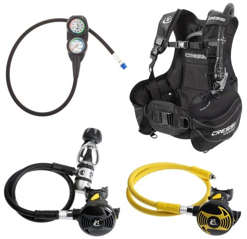 Cressi Start Equipment for Scuba Diving, made in Italy