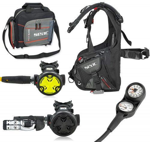 SEAC Smart BCD Scuba Regulator Dive Gear Package