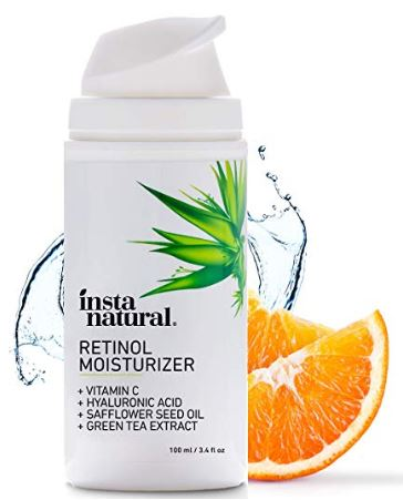 Retinol Moisturizer Anti Aging Night Face Cream - Face & Neck Wrinkle Lotion - Reduce Appearance of Wrinkles, Dark Circles, Fine Lines & Acne - Vitamin C Hyaluronic Acid Complex - InstaNatural - 3.4oz