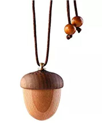 RoyAroma Wooden Acorn Essential Oil Car Diffuser Air Freshener Hang Decoration