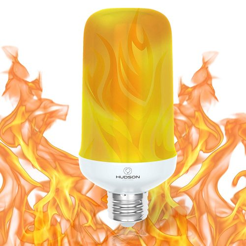 LED Flame Effect Light Bulb: E26 Standard Base Flame Bulb - Upside Down Effect - 3W - 200 Lumen - Energy Efficient Flickering Fire Lights for Indoor/Outdoor Use - 1 Pack