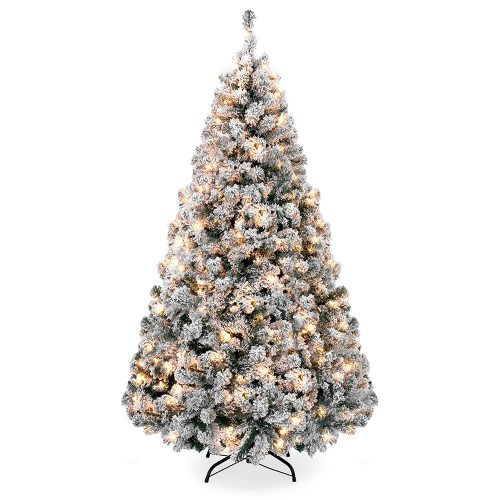 Best-Choice-Products-Artificial-Christmas flocked Christmas tree