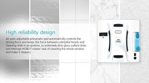 Hobot Robot Window Cleaning Robot can be used to clean your window or wall glass with the control of your smartphone or its remote.
