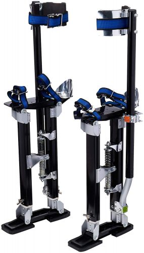 "1116 Pentagon Tool ""Tall Guyz"" Professional 18""-30"" Black Drywall Stilts For Sheetrock Painting or Cleaning"