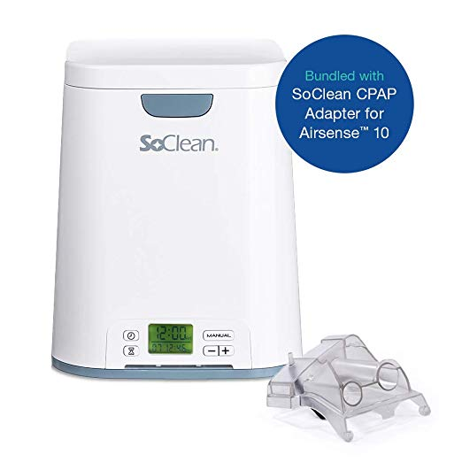 SoClean Bundle of 1 Adapter for ResMed AirSense 10 and AirCurve 10 Series CPAP Machines + 1 SoClean 2 CPAP Cleaner and Sanitizer Machine, Automated Sanitizing After One-Time Set Up TOP 10 BEST CPAP CLEANERS IN 2020 REVIEWS