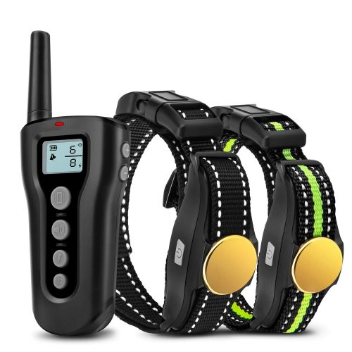 Bousnic Dog Training Collar 2 Dogs Upgraded 1000ft Remote Rechargeable Waterproof Electric Shock Collar with Beep Vibration Shock for Small Medium Large Dogs
