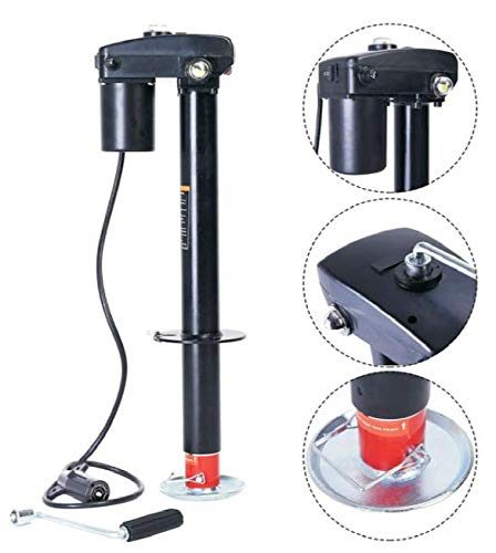 AC-DK 3500 lb Electric Trailer Jack -12V Power Tongue Jack 7-Way Plug for RV and Trailer