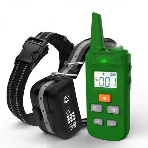 TBI Pro [All-New 2021 Dog Shock Training Collar with Remote   Heavy-Duty, Long Range 2000 ft, Rechargeable & IPX7 Waterproof   E-Collar Shock Collar for Dogs Small, Medium, Large Size, All Breeds