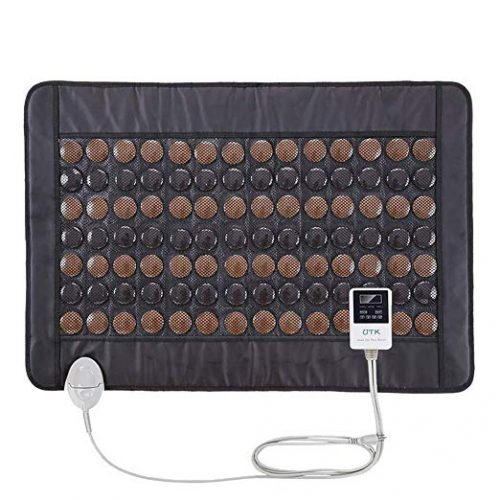 """UTK Far Infrared Tourmaline Heating Pad for Back Pain Relief - Infrared Therapy for Cramps - Medium T-Pro (31"""" X 21""""), Temp Settings, Auto Off and Travel Bag Included TOP 10 BEST INFRARED HEATING PADS IN 2020 REVIEWS"""
